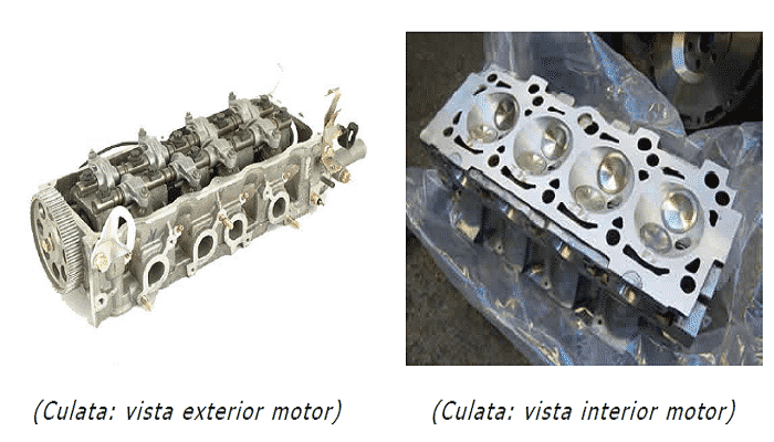 Partes de la culata de un motor diesel
