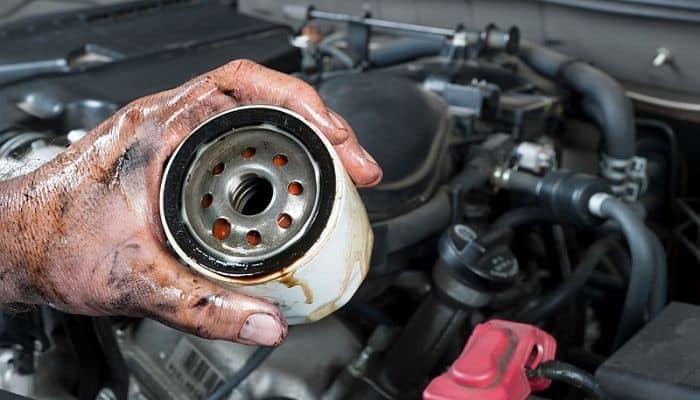 Fuga de aceite de motor